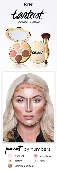 tarte cosmetics has a new palette that will teach you how-to contour in 5 simple steps!
