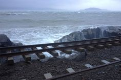 Washed out rail line after Wellington storm