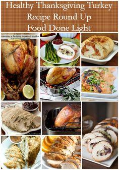 Healthy Thanksgiving Turkey Recipe Round Up www.fooddonelight.com