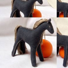 Toys For Girls, Gifts For Girls, Felt Animal Patterns, Stuffed Horse, Horse Pattern, Natural Toys, Montessori Toys, Pattern And Decoration, Felt Toys