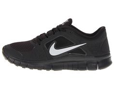 ffbed07855775 Nike free run 3 black metallic silver