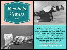 Visit www.MusicforYoung Violinists.com to see Bow Hold Helpers #1-9 & Violin Hacks + FREE downloads, print at home music collections, inspiration & more!