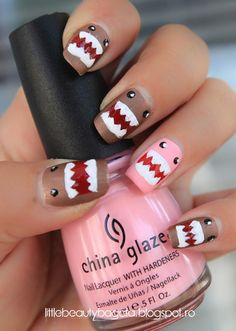 Domo Kun Nails http://www.makeupbee.com/look.php?look_id=62983