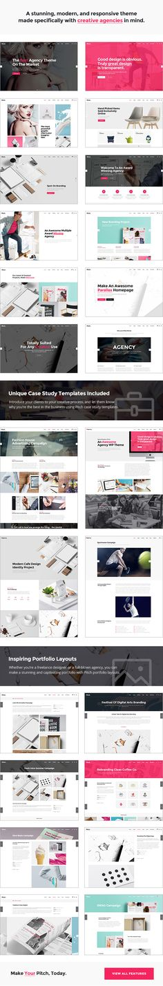 Pitch - A Theme for Freelancers and Agencies: A stunning, modern, and responsive theme made specifically with creative agencies in mind. #template