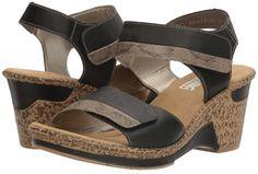 Chaussures sandales compensées Rieker t 40 tbe