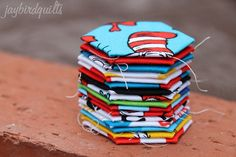 dr. seuss hexagons by Jaybird Quilts, via Flickr