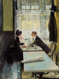 Gotthardt Kuehl, Lovers in a Cafe (invitation inspiration)