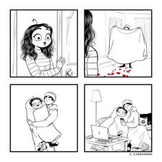 The perfect Valentine's Day. Cute Couple Comics, Couples Comics, Funny Couples, Cute Comics, Funny Comics, Couples Images, Couple Cartoon, Sarah Andersen, Relationship Comics
