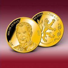 """Pamětní ražba """"Miloš Zeman"""""""