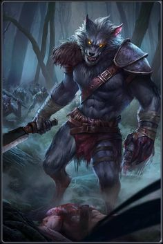 Fenris Grimtooth, Lycan Warlord & Resourcer of the Infernal Knights Male Furry, Furry Wolf, Furry Art, Dark Fantasy Art, Fantasy Artwork, Fantasy Creatures, Mythical Creatures, Lobo Anime, Wolf Warriors