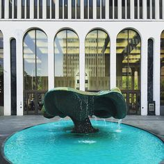 Harry Bertoia sculpture in front of Minoru Yamasaki's One M&T Plaza building. Photo by Alexandra Lange.
