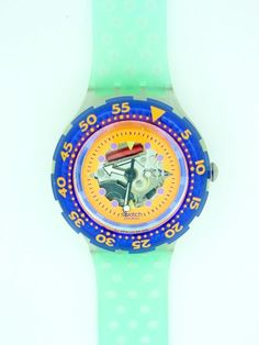 Scuba swatch Serie Tv, Scuba Diving, Product Design, Cartier, Childhood Memories, Swatch, Bubbles, Objects, Products