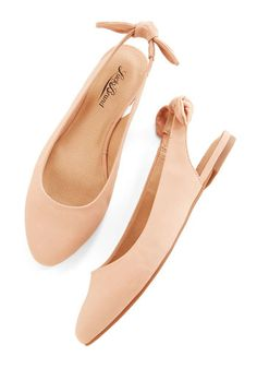 Your Most Favorite Flat in Beige by Lucky - Flat, Leather, Solid, Bows, Casual, Minimal, Spring, Better, Slingback, Variation, Tan