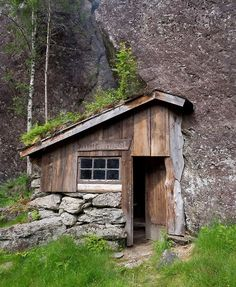 "Moldhuset (literally ""the earth/soil house""), a mountain cabin in Vikedal, Norway built by Ole Fatland. Contributed by Ole's grandson, Johannes Grødem."