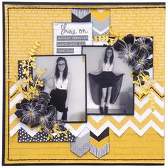 Merly Crop kit layout April 2015 - using Kaisercraft Shine Bright collection.