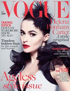 Vogue UK July 2013: Helena Bonham Carter photographed by Mert Alas and Marcus Piggott. #fashion #cover