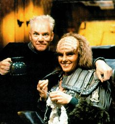 Knitting Klingons, your argument is invalid! Curiosities: Rare Star Trek: The Next Generation Pictures