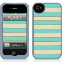 Agent18 Agent18 StripeVest Silicone Case for iPhone 4 & 4S - Turquoise