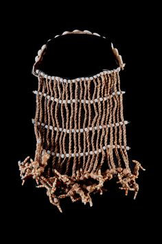 Africa | A twisted leather strips and glass bead skirt from the Hammar people of Ethiopia | ca. 1970