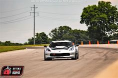 Jordan Priestley's 2017 Corvette on the Falken Tire Road Course Time Trial at at NCM Motorsports Park at NCM Motorsports Park in Bowling Green, Kentucky Street Racing, Road Racing, Falken Tires, Optima Battery, Bowling, Corvette, Kentucky, Park, Green