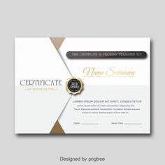 Fashion Personal Certificate of Honor