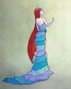 Ariel Designer Doll Drawing by ~Smangirl16 on deviantART