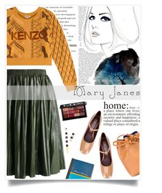 """""""What's Home?"""" by iamrendrawati ❤ liked on Polyvore featuring Marc Jacobs, Kenzo, Chicwish, Bobbi Brown Cosmetics, Mansur Gavriel and Henri Bendel"""
