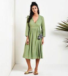 The elf dress Beautiful Dresses, Nice Dresses, Summer Dresses, Frock Dress, Wrap Dress, Designer Wear, Designer Dresses, Dress Indian Style, Clothing Hacks