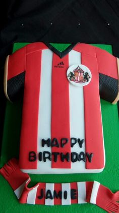 Cake Inspirations -Cakes for all occasions Sunderland Football, Sunderland Afc, Afc Football, Football Shirts, Football Themed Cakes, Chivas Soccer, 7 Cake, Shirt Cake, Soccer Party