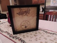 A shadow box that I made for a friend.