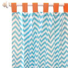 Orange Crush Curtain Panels - Set of 2 - LOVE the colors