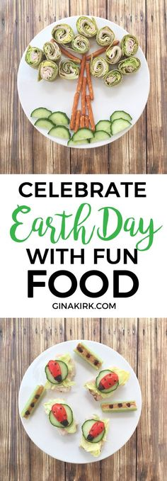 Celebrate Earth Day with Fun Food! - Holiday and Party Fun - Celebrate Earth Day with fun food Earth Day Projects, Earth Day Crafts, Food Art For Kids, Cooking With Kids, Healthy Dinner Recipes, Healthy Snacks, Arbour Day, Spring Recipes, Kids Meals