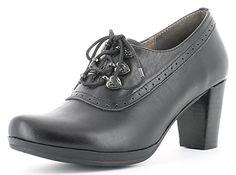Trachten Schuhe Katrin mit Schnürung - Schwarz Gr. 42 - Schöne Damen Pumps von Andrea Conti zu Dirndl und Lederhose - http://on-line-kaufen.de/andrea-conti/42-eu-andrea-conti-3009229-damen-plateau-pumps-3