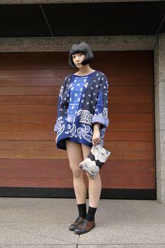 Estilo callejero japonés Foto de Dropsnap Tokyo. ….. Japanese street style Photo by Dropsnap Tokyo.