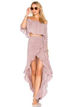 Blue Life Aura Wrap Skirt em Rain Violet | REVOLVE