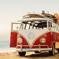 The only #Bus to take to the #Beach. #Volkswagen #Adventure #RoadTrip #VW #SurfsUp