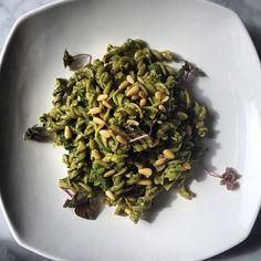 Craving something new? Then we got the perfect dish for you! Fusilli in pesto Genovese with green beans & roasted pinenuts. #nomnom #Toronto #QueenWest #TasteToronto #Italian #Food