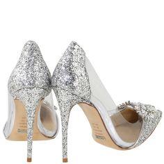 Acquarelashop - A primeira boutique online de sapatos do Brasil - Scarpin Salto Alto Especial Edition Cinderela Schutz Prata