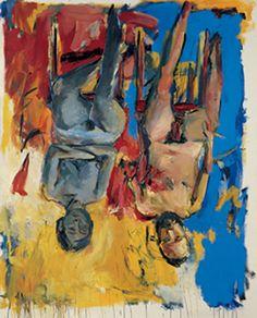 Georg Baselitz Schlafzimmer – (Chambre à coucher)– huile sur toile - 1975