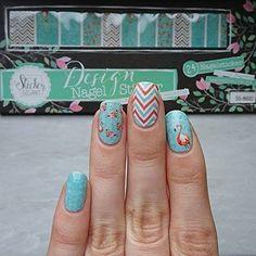 Nail Wraps, Flamingo, Turquoise, Stickers, Nails, Rings, Jewelry, Simple, Flamingo Bird