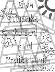 psalm 100 4 coloring pages - photo#6