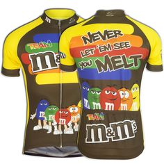 Team M amp M s Candy Cycling Jersey Short Sleeve Brainstorm Gear Bicycle   BrainstormGear  ClubCut 12e8b4476