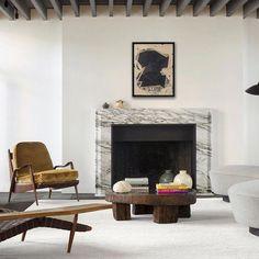 Stunning new project by @nicolasschuybroek in Antwerp, Belgium.  Furniture by Philip Lloyd Powell, Jose Zanine Caldase, and lighting by Serge Mouille. : Claessens & Deschamps