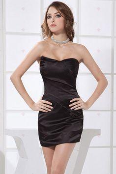 Strapless Mini Style Black Satin kurze Heimkehr Kleider140,56 €   80,32 €
