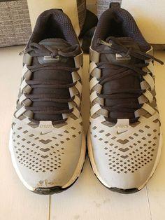 30448d488e0 Nike Fingertrap Max Mens Running Shoes Sneakers Sz 10 M Black Gray  644673-002 #