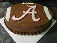 The Dessert Box: Alabama Football Groom's Cake Alabama Grooms Cake, Football Grooms Cake, Baseball Wedding Cakes, Alabama Cakes, Alabama Birthday Cakes, Baseball Cakes, Football Cakes, Batman Grooms Cake, Mini Cakes