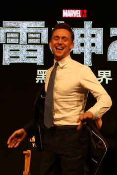 Tom Hiddleston at 'Thor: The Dark World' Beijing Press Conference on October 11, 2013