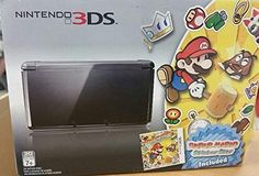 Nintendo 3DS COSMO BLACK With PAPER MARIO STICKERSTAR BUNDLE