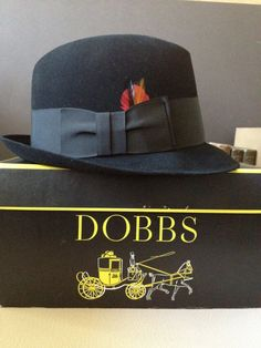 2739ed6b33a Dobbs Black Fedora Hat New York Original Hat Box Size 7