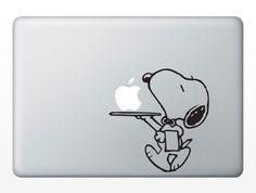 snoopyMacbook decal Macbook sticker Mac decal Mac by Decaldazzle, $6.99